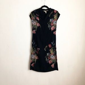 Vintage black dress floral size extra small